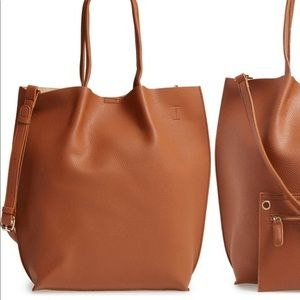 Nordstrom / Sole Society Faux Brown Leather Tote